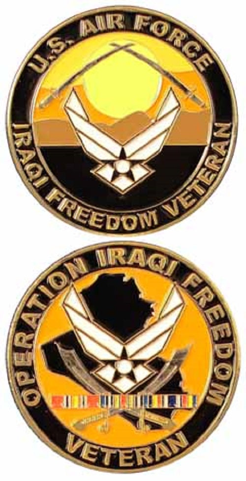Air Force Challenge Coin - Operation Iraqi Freedom Veteran