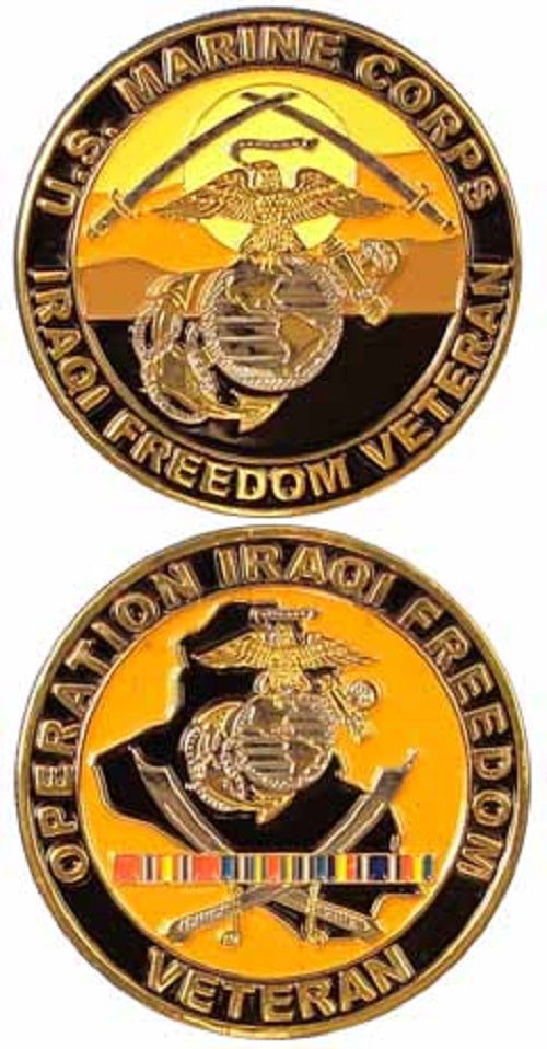 Marines Challenge Coin - Operation Iraqi Freedom