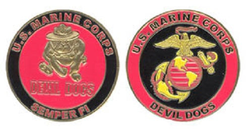 Marines Challenge Coin - Devil Dogs (licensed copyright product)