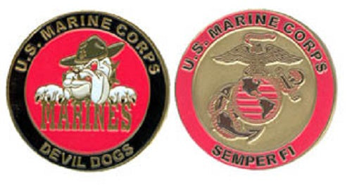 Marines Challenge Coin - Semper Fi Devil Dog