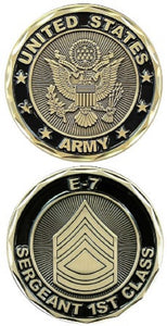 Army Challenge Coin - E-7 Sergeant 1st Class
