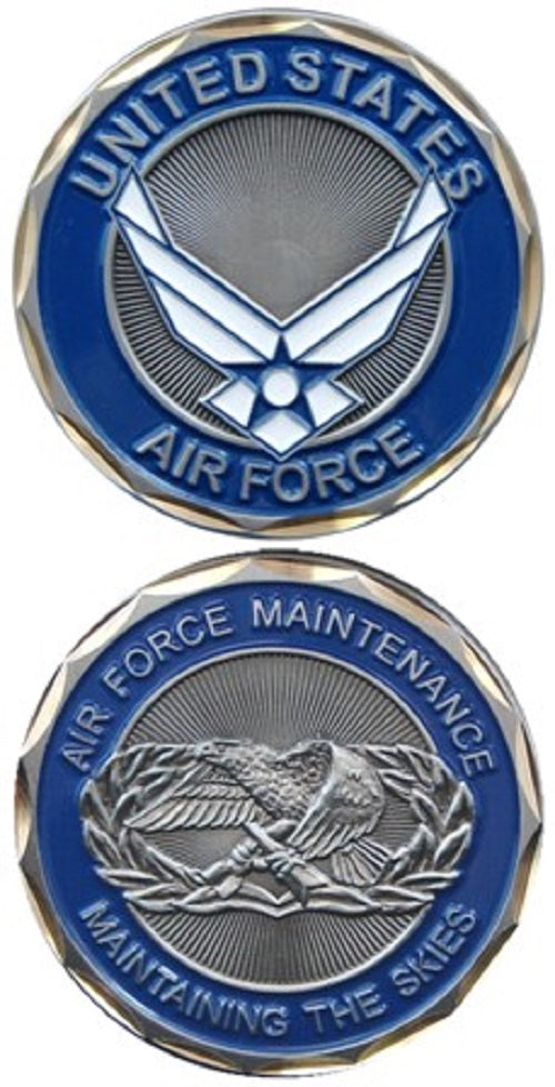 Air Force Challenge Coin - Air Force Maintenance