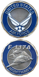 Air Force Challenge Coin - F-117A Nighthawk