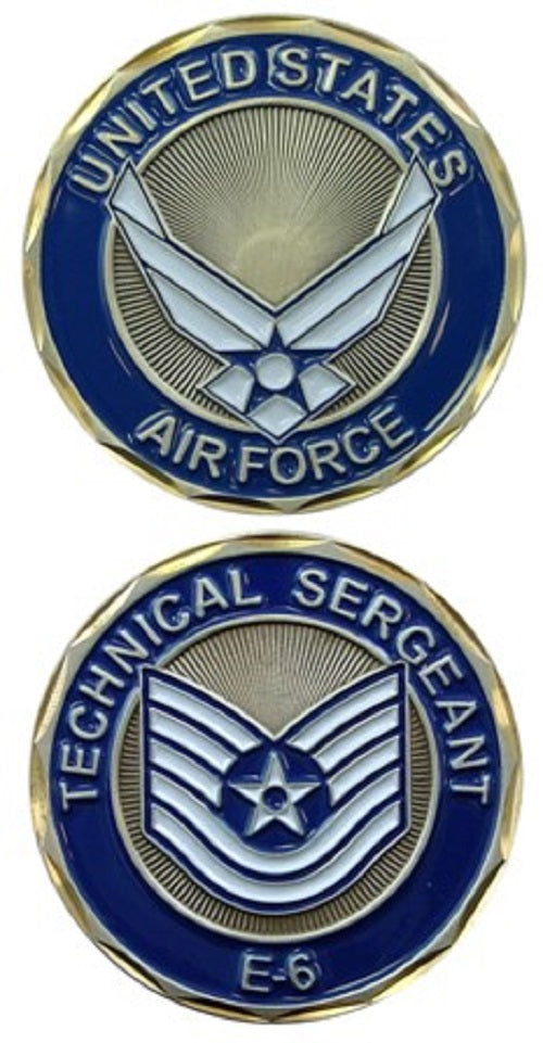 Air Force Challenge Coin - USAF E-6 Technical Sergeant