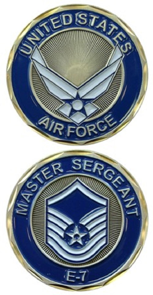 Air Force Challenge Coin - E-7 Master Sergeant