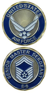 Air Force Challenge Coin - USAF E-8 Senior Master Sergeant