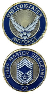 Air Force Challenge Coin - E-9 Chief Master Sergeant