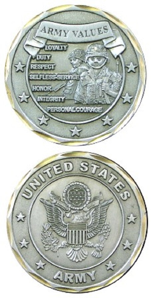 Army Challenge Coin - Army Values (Style 2)