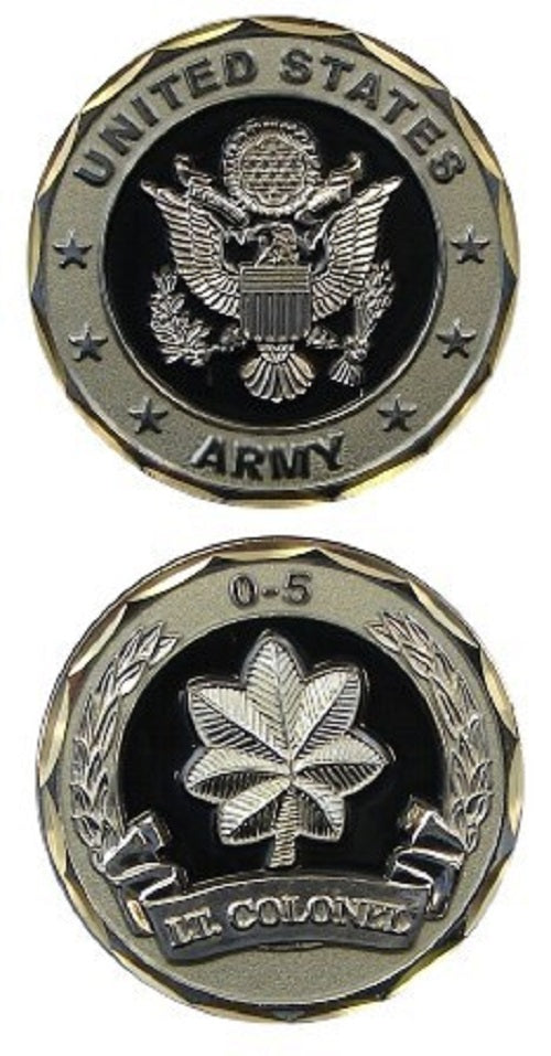 Army Challenge Coin - O-5 Lt. Colonel