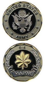 Army Challenge Coin - O-4 Major