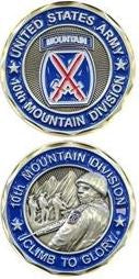 Army Challenge Coin - 10th Mountain Division