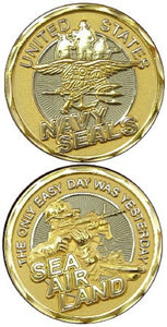 Navy Challenge Coin - Navy SEALS (Gold)