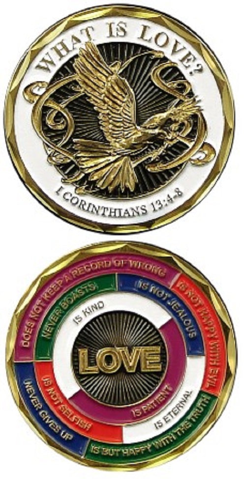 Challenge Coin - What is Love? I Corinthians