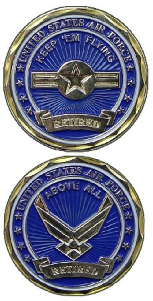 Air Force Challenge Coin - USAF Retired