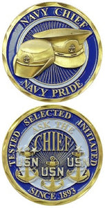 Navy Challenge Coin - Navy Chief Navy Pride
