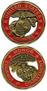Marines Challenge Coin - Marines G&A Cut-Out