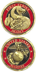 Marines Challenge Coin - First Strike Deadly