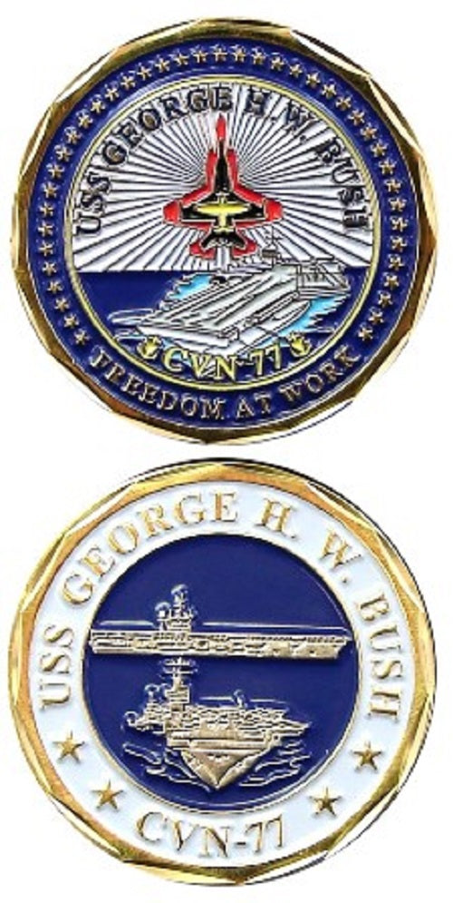 Navy Challenge Coin - USS George H.W. Bush