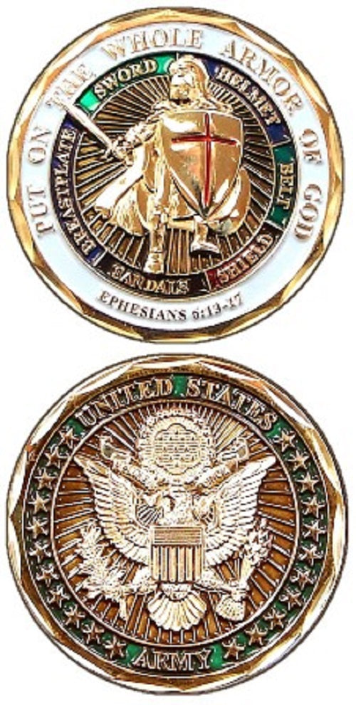 Army Challenge Coin - Armor of God