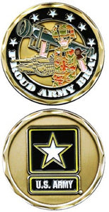 Army Challenge Coin - Proud Army Brat