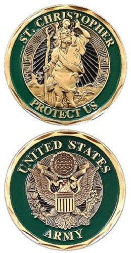 Army Challenge Coin - St. Christopher