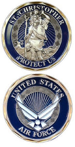 Air Force Challenge Coin - St. Christopher