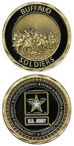 Army Challenge Coin - Buffalo Soldiers