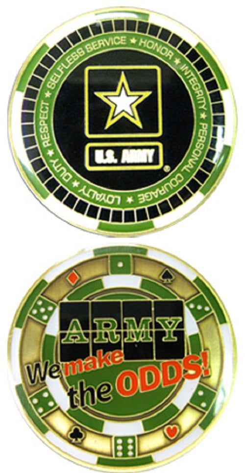 Army Challenge Coin - Casino - We Make the Odds