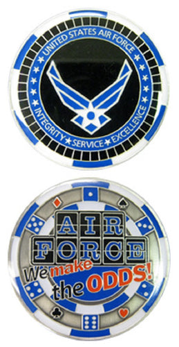 Air Force Challenge Coin - Casino - We Make the Odds