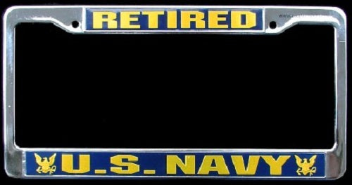 Navy - License Plate Frame - U.S. Navy Retired