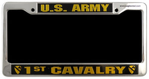 Army - License Plate Frame - U.S. Army 1st Cavalry