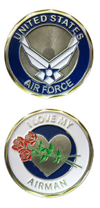 Air Force Challenge Coin - I Love My Airman