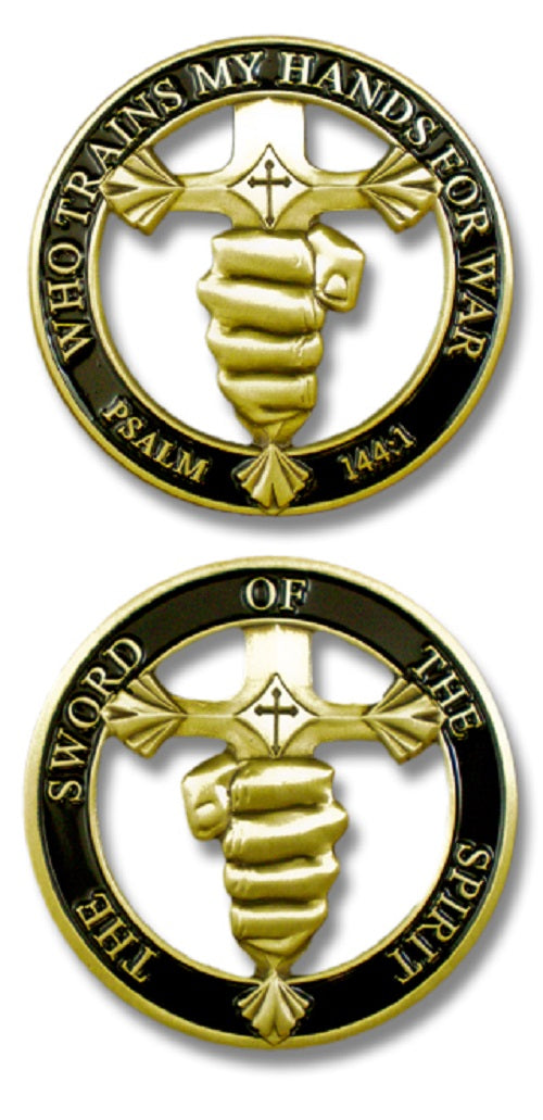 Challenge Coin - Sword of the Spirit Cut-Out
