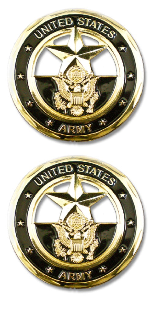 Army Challenge Coin - U.S. Army Cut-Out