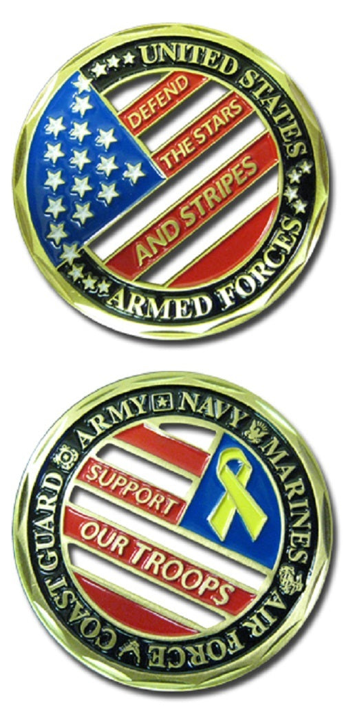 Challenge Coin - Support Our Troops Cut-Out