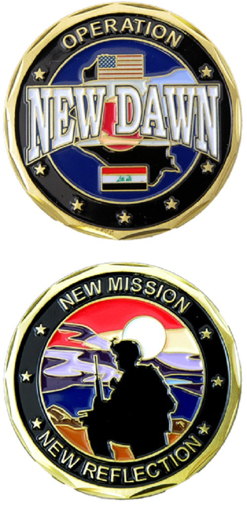 War & Op Challenge Coin - Operation New Dawn - New Mission