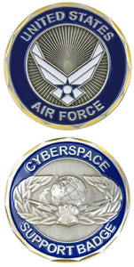 Air Force Challenge Coin - Cyberspace Support Badge