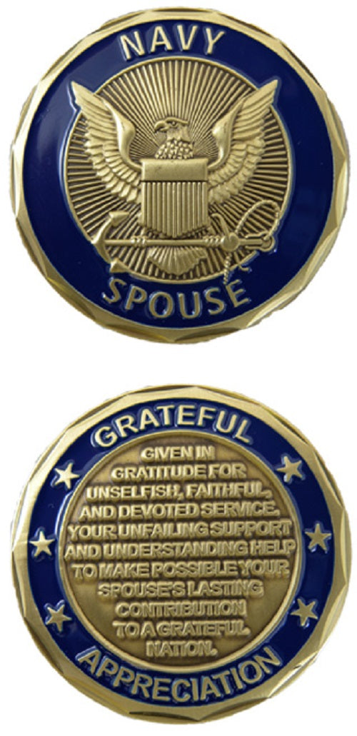 Navy Challenge Coin - Navy Spouse
