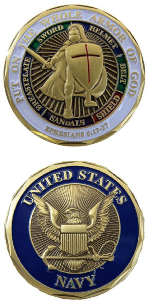 Navy Challenge Coin - Armor of God