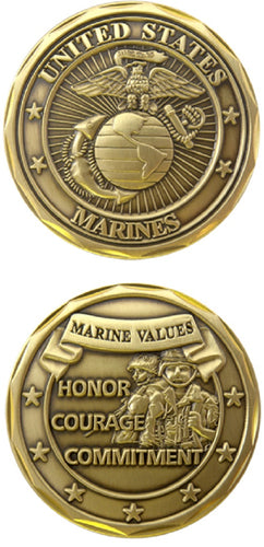 Marines Challenge Coin - Marine Values