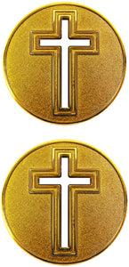 Challenge Coin - Gold Cross Cut-Out