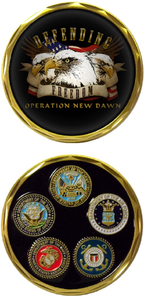 War & Op Challenge Coin - Operation New Dawn - Eagles