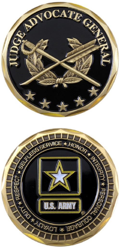 Army Challenge Coin - Judge Advocate General (JAG)