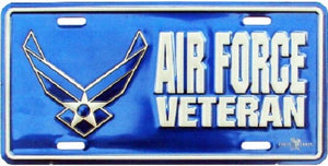 Air Force - License Plate - Air Force Veteran