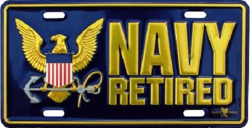 Navy - License Plate - Navy Retired