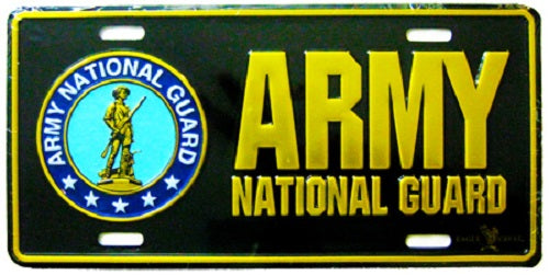 Army - License Plate - Army National Guard