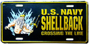 Navy - License Plate - Shellback