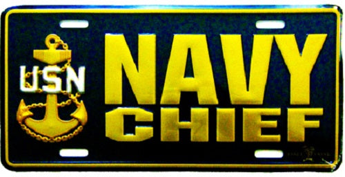 Navy - License Plate - Navy Chief