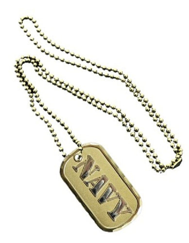 NAVY DOG TAG - NAVY w/keychain hoop