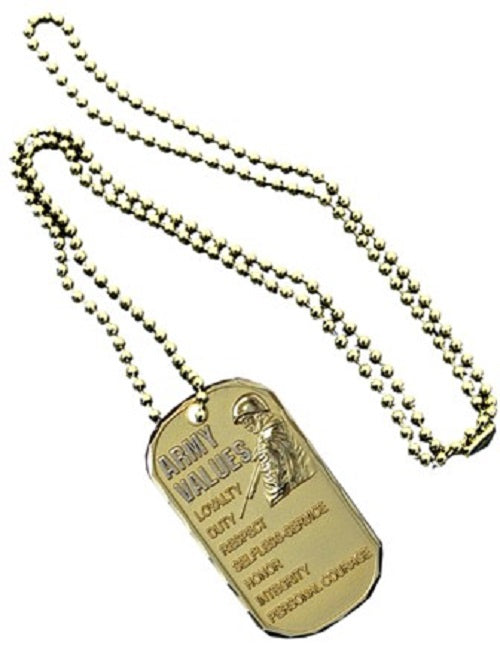 Army Dog Tag - Army Values (Engraveable)